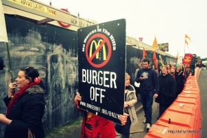 Tecoma residents protesting against a McDonald's development plan to visit the company's US headquarters. Photo: Michael Pickard via Flickr