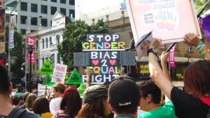 Saturday's rally saw over 1000 people campaigning for marriage equality. Photo: Tess Brooks