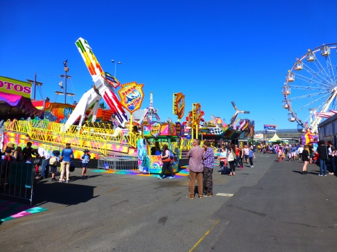 Crowds flock to Sideshow Alley at this year's Ekka. Source: Tamara Sydenham