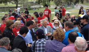 Former Prime Minister Bob Hawke speaking at a Labor event in Beenleigh