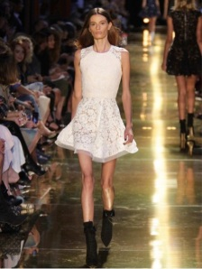 Alex Perry's booking of Cassi Van Den Dungen for his runway show caused outrage in April this year. Photo: ABC