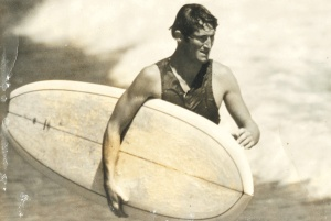 Rusty Miller surfing in his heyday, 1968 (source: common ground)