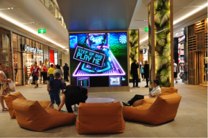 Interactive digital display in Garden City.    Photo: Yang Siyuan