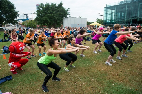 This year's Goodlife Wellness Festival is set to break the record for Australia's biggest workout. Photo: Goodlife Health Clubs