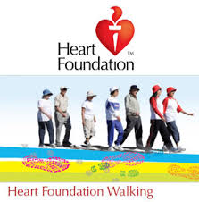 As part of their registration with The Heart Foundation walking program, participants will receive an information pack along with their choice of a Heart Foundation pedometer, hat, water bottle or T-shirt.     Source: The Heart Foundation