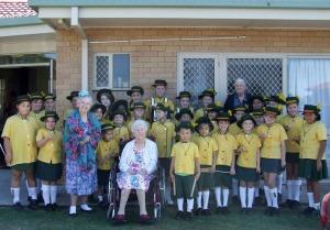 MTGESS tours a nursing home. Photo: Sandi Meibusch