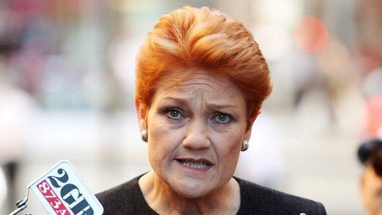 Pauline Hanson. Source: The Australian