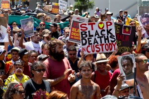Aboriginal Deaths in Custody Rally G20 Brisbane. Photo © Glenn Lockitch 2014
