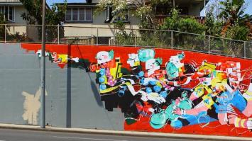 Anthony Lister's artwork painted over by Brisbane City Council | Image: Jack Tran