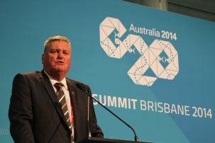 ACL CEO Michael Brown at the G20 International Media Centre this week.