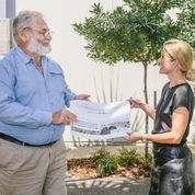 David Bruer handing over 40,000 strong petition to Brisbane Airport. Source: WWF