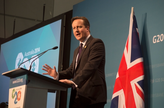 uK Prime Minister David Cameron gives his final address on the last day of the G20 International Leader's Summit. Photo: Janelsa Ouma.
