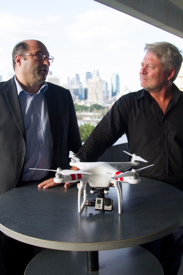 Drones, Privacy and Journalism Symposium-GOLDBERG + CORCORAN WITH DRONE