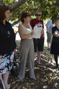 Shadow Health Minister Jo-Ann Miller and former Brisbane Central MP Grace Grace slam the state government over health cuts. Photo: Jenelle Stafford, The Source News.
