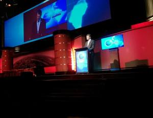 Lord Mayor Graham Quirk giving opening for the day.   Image: Rhea Anthony