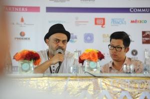 Hassan Blasim speaking at on his panel: A Surrealist Inferno