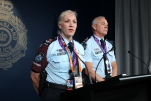 Assistant Commissioner G20 Katarina Carroll and Deputy Commissioner Ross Barnett. Photo: Philip Norrish