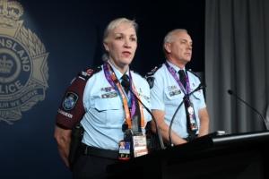 Assistant Commissioner G20 Katarina Carroll and Deputy Commissioner Ross Barnett. Photo: Philip Norrish
