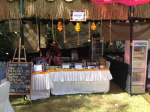 A Mocktail Stand at the festival preparing for a busy day.