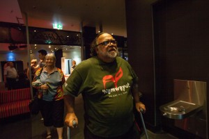 Sam Watson arrives at the Sir Paul Hasluck Foundation annual lecture. Photo Kasun Ubayasiri