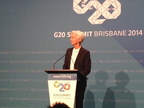 IMF Managing Director wrapping up the G20 weekend. Photo: Amy Mitchell-Whittington