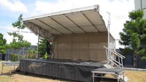 The End of the Line Festival Stage set up. Lauren Bickley