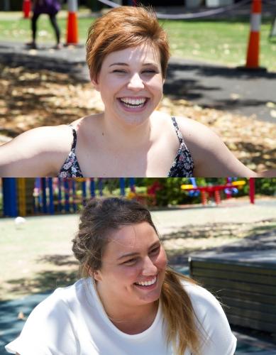 Codie Ellis, 19 and Priscilla Cocis, 21. Photo: Kimberley McCosker