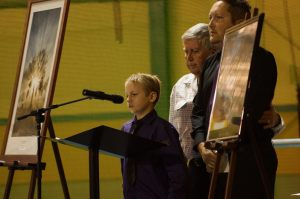 Jade's brother Brandon comforted by his father Bruce and grandfather Denis