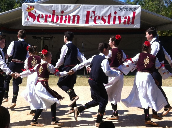 Young dancers performing traditional dance