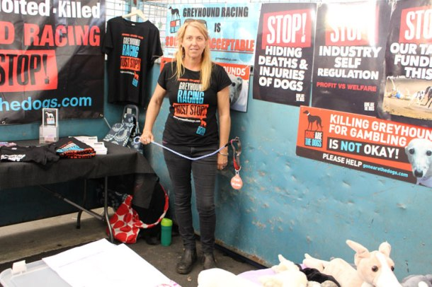 Friends of the Hound president, Lisa White was at the event working with Gone are the Dogs. Source: Cassandra Mulhern.