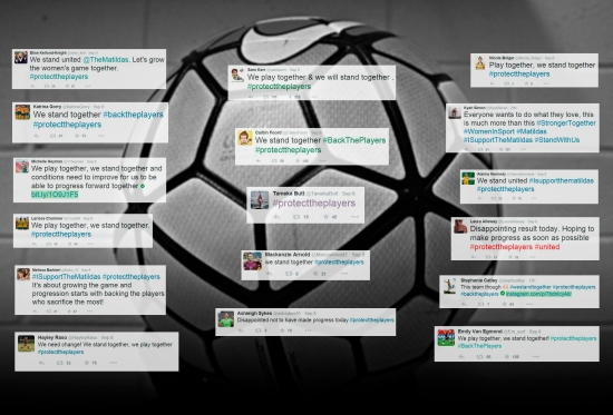 The Matildas took to social media and are gaining support from all over the world. Source: Tegan Clarke.