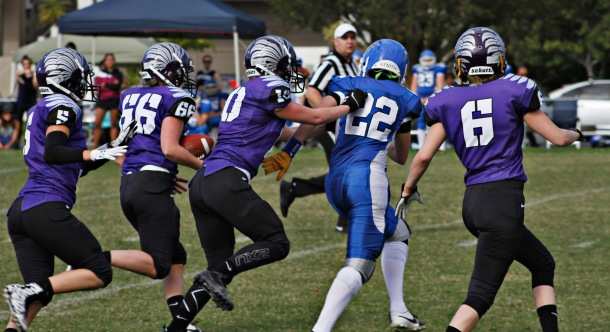 Ravens' offense takes off during the clash of competition newcomers. Source: Tegan Clarke