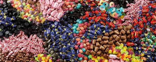 Mixed lollies Source Swedish Goodies