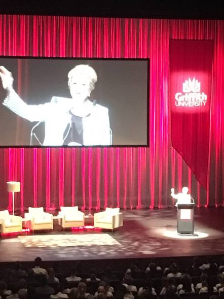 Gillian Triggs speaking at the Global Integrity Summit 2015 Source: Nakita Ronto