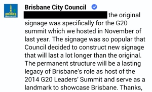 Brisbane City Council Quote