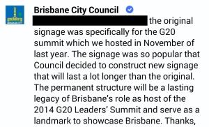 Brisbane City Council Quote