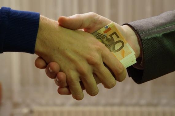 Corrupt business dealings. Source: Wikimedia