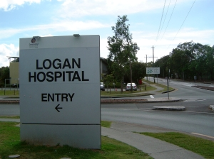 Logan hospital entrance. Source: wikimedia