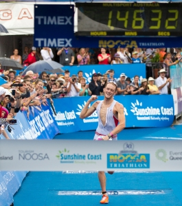 Peter Kerr is on a high after winning the 2015 London triathlon. Souce: Supplied.