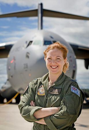 C-17A Globemaster pilot, Squadron Leader Samantha Freebairn. Source: Supplied