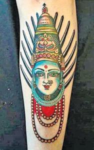 A tattoo of Yellama, a Hindu Goddess. Photo: Facebook