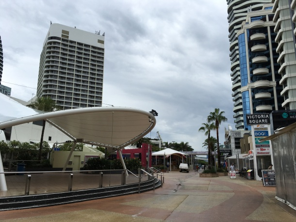 Broadbeach main stage ready for action. Source: Wai Yeun