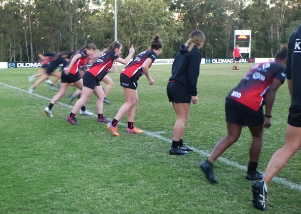 Griffith University Rugby Sevens training