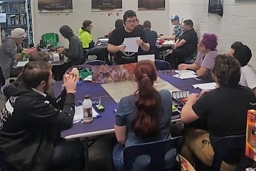 D&D session at Good Games
