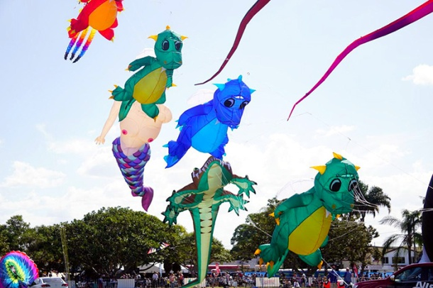 Kites at Redcliffe KiteFest