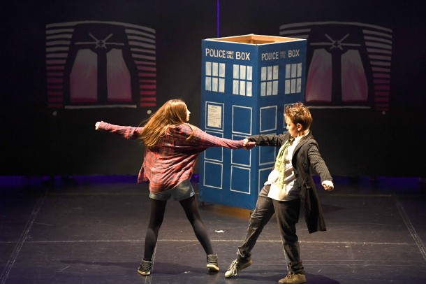 Staines Memorial School perform Dr Who Saving Time