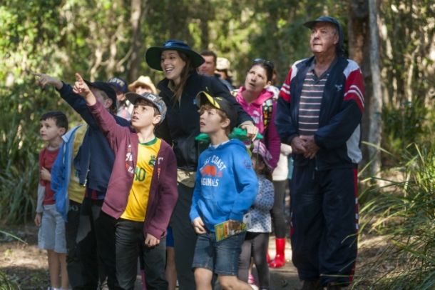 Students on tour at Downfall Creek Bushland Centre