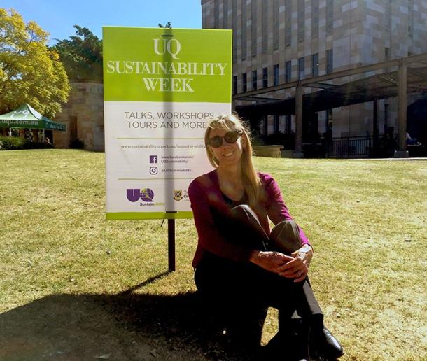 UQ sustainability coordinator Suzanne Davis