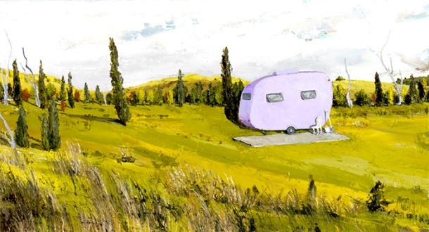 The Violet Van by Amanda Penrose Hart
