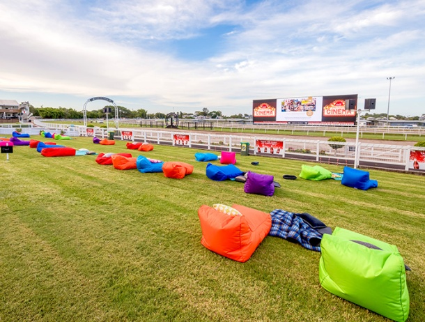 The Big Screen on the Green at Eagle Farm Racecourse